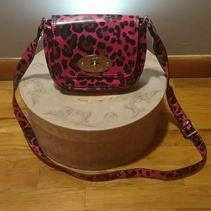 Mulberry For Target hot pink/leopard print bag
